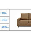 Adorn India Daffodil Three Seater Modular Sofa (Camel)
