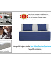 Adorn india Easy Two Seater Sofa Cum Bed (3 Years Warrenty Quality Foam)-Perfect for Seat & Sleep Washeble Polyster Fabric Cover (Blue & Grey) 4'x6'.Pillows Free