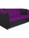 Adorn India Acura 3 Seater Sofa(Dark Purple & Black)