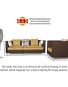 Adorn India Exclusive Two Tone Alica 3-1-1 Five Seater Sofa Set (Brown & Beige)