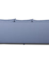 Adorn India Straight Line Three Seater Sofa(Dark Grey)