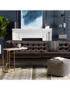 Adorn India Exclusive Cosmos Leaterette Three Seater Sofa (Brown)