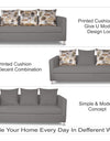 Adorn India Alita 3-1-1 Compact 5 Seater Sofa Set (Light Grey)