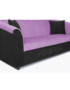 Adorn India Acura 3 Seater Sofa(Light Purple & Black)