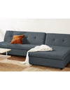 Adorn India Atlas Modular Sofa Set (Dark Grey)