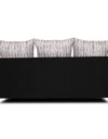 Adorn India Dexter sofa set 3-1-1 digitel print (grey & black)
