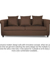 Adorn India Magnum 3 Seater Sofa (Brown)