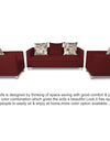 Adorn India Alita 3-1-1 Compact 5 Seater Sofa Set (Maroon)