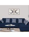 Adorn India Rio Highback L Shape 5 Seater coner Sofa Set (Blue)