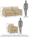 Adorn India Exclusive Flavio Leaterette 3-1-1 Sofa Set (Beige)