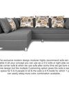 Adorn India Alica Modular Sofa Set(Light Grey)