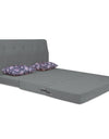 Adorn India Easy Highback Three Seater Sofa Cum Bed Floral 6' x 6' (Grey)