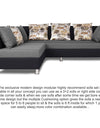 Adorn India Exclusive Two Tone Alica Modular Sofa Set (Light Grey & Black)