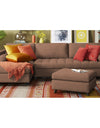 Adorn India Alexander L Shape Sofa (Left Side Handle)(Camel)