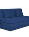 Adorn India Easy Highback Three Seater Sofa Cum Bed Decent 5' x 6' (Blue)