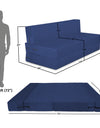 Adorn India Easy Treno 3 Seater Sofa Cum Bed Sit & Sleep Perfect for Guest, Colour Blue, 6'x6'