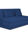Adorn India Easy Highback Two Seater Sofa Cum Bed Decent 4' x 6' (Blue)
