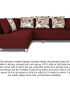 Adorn India Alica Modular Sofa Set(Maroon)