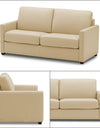 Adorn India Exclusive Flavio Leaterette 3+2 Sofa Set (Beige)