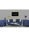 Adorn India Alica 3-1-1 5 Seater Sofa Set(Blue)