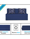 Adorn India Easy Two Seater Sofa Cum Bed Floral '4 x 6' (Blue)