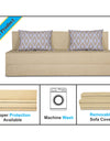 Adorn India Easy Three Seater Sofa Cum Bed Rhombus '6 x 6' (Beige)