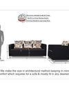 Adorn India Alita 3-1-1 Compact 5 setaer Sofa Set (Black)