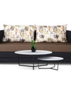 Adorn India Exclusive Two Tone Straight Line Three Seater Sofa Cum Bed (Camel & Black)