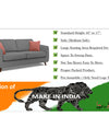 Adorn India Harlem 6 Seater 3+2+1 Fabric Sofa Set (Grey)