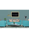 Adorn India Alita 3-1-1 Compact 5 Seater Sofa Set (Aqua Blue)