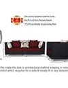 Adorn India Exclusive Two Tone Alica 3-1-1 Five Seater Sofa Set (Maroon & Black)