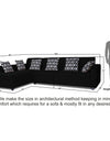 Adorn India Rio Highback L Shape 5 Seater coner Sofa Set (Left Side Handle)(Black)