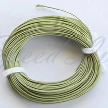 Load image into Gallery viewer, WF#8F, 2 welded loop moss Green Floating fly Line