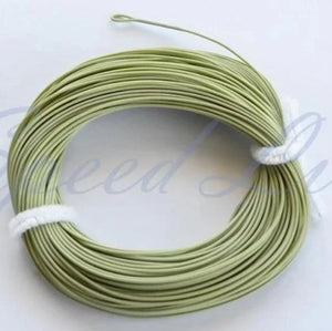 WF#8F, 2 welded loop moss Green Floating fly Line