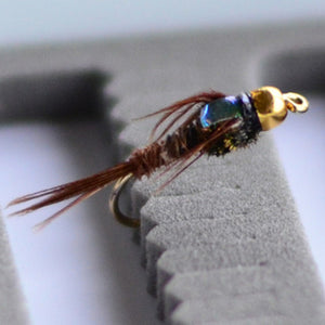 #12 Gold Bead Pheasant Tail Flash back flies