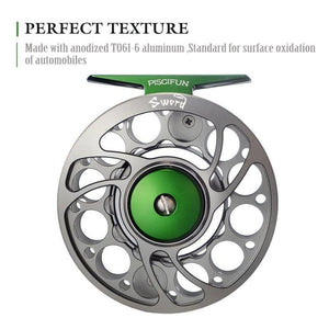 "Fiber Glass fly rod Accurate cast 7'0"" #3 3pcs+PISCIFUN fly reel 3/4"