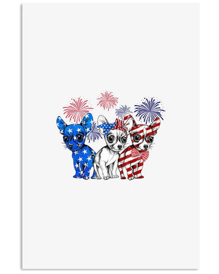 Chihuahua Happy America Independence's Day  Special Custom Design Vertical Poster