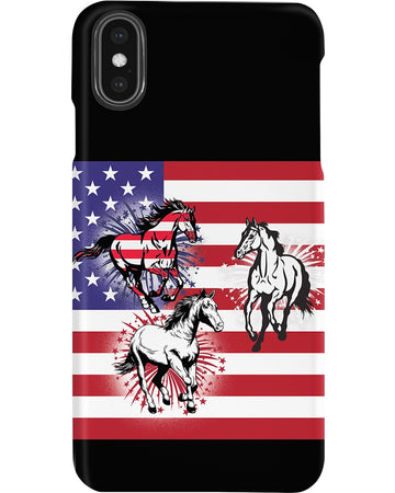 Horses Happy America's Independence Day Special Custom Design Phone case