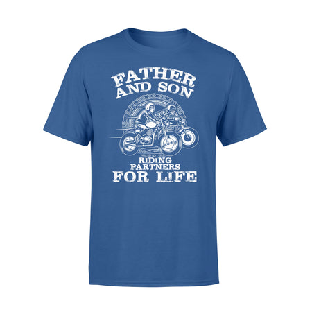 Motorcycle Father Son Riding Partners For Life - T-shirt