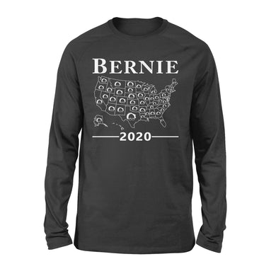 Bernie Sanders Map of USA America US Election 2020 Long Sleeve
