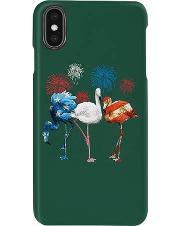 Lovely Phone Case Flamingos Independence Day  Gift For Flamingo Lovers