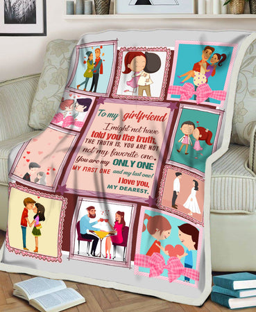 I Might Not Have Told You The Truth Love Valentine Gifts For Her Girlfriend Fleece Blanket