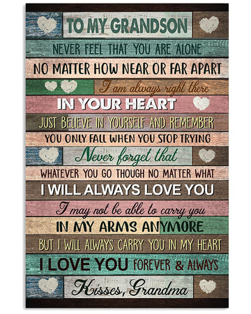 I Will Always Love You Wonderful Gift From Grandma To Grandson Vertical Poster