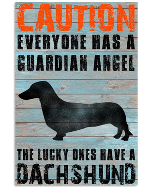 Dachshunds Guardian Angel Vertical Poster