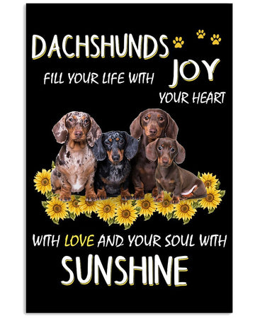 Dachshund Sunshine Custom Design Gifts For Dog Lovers Vertical Poster