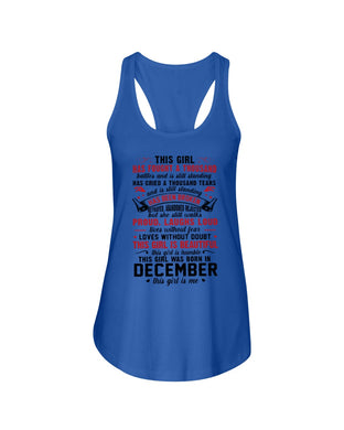 This Girl Is Beautiful Who Was Born In December Birthday Gift For Friends Ladies Flowy Tank