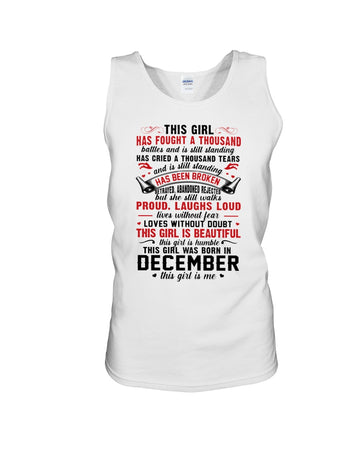 This Girl Is Beautiful Who Was Born In December Birthday Gift For Friends Unisex Tank Top