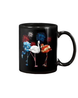 Lovely Phone Case Flamingos Independence Day  Gift For Flamingo Lovers Mug