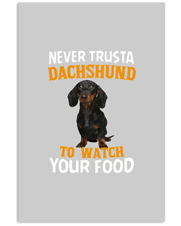 Dachshund Food Gift For Dog Lovers Black Mug Vertical Poster