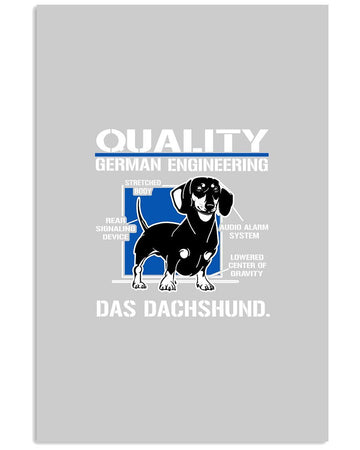 Dachshund German Engineering Gift For Dog Lovers Shirt Vertical Poster